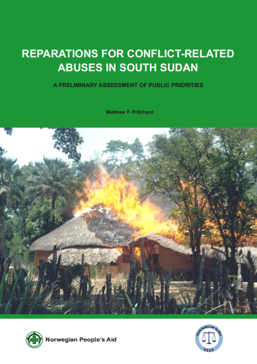 Publication: Preliminary Assessment of Public Priorities for Reparations in South Sudan